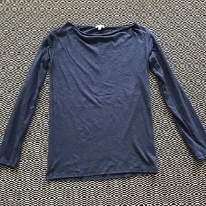 Gap Blue Boatneck Tee Small